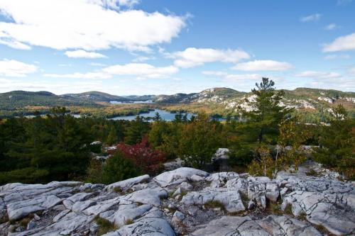 The La Cloche Mountains in Killarney. Taken from the top of 'The Crack'